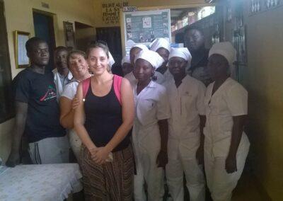 Projet d'aide-soignante dans un dispensaire dans le village de Hanyigba-Duga en 2017 et 2018